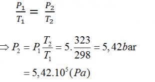 Giải Lý lớp 10 Bài 30: Quá trình đẳng tích. Định luật Sác-lơ