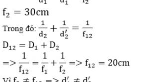 Giải Lý lớp 11 Bài 30: Giải bài toán về hệ thấu kính