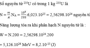 Giải Lý lớp 12 Bài 38: Phản ứng phân hạch